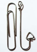 Paper clips as fish hooks-2