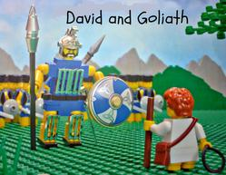 The opening slide of our David and Goliath PowerPoint