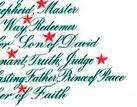Tree - names of Jesus