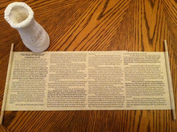 Maccabees jar scroll