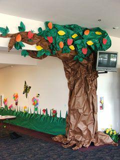 fruit-tree trunk