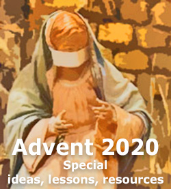 Advent and Christmas 2020 during the COVID pandemic. Ideas, Lessons, Resources at Rotation.org