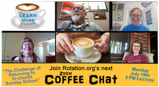 Join us July 19th for conversation about returning to in-person Sunday School