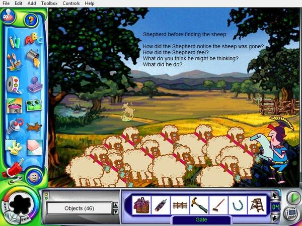 Kid Pix Lost Sheep