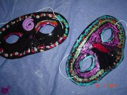 Art Esther Purim Masks by Hampton United Church, ON, Canada