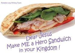 Hero sandwich for the Beatitudes Cooking lesson