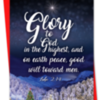 Christmas card: Glory to God in the highest and peace on earth