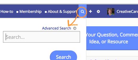 *Search magnify glass on menu bar - advanced search