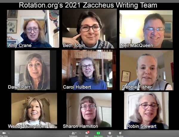 Zaccheus Writing Team meets on Zoom 2021