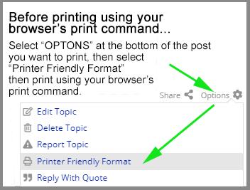 Option for printer-friendly