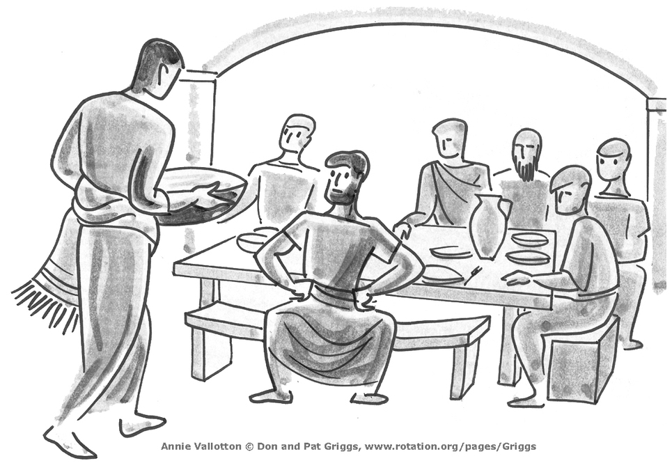 Bible Images and Illustrations at Rotation.org, Peter and Jesus